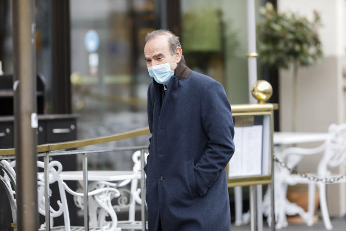 The High Representative for the Common Foreign and Security Policy of the European Union Enrique Mora arrives at the Grand Hotel Wien where closed-door nuclear talks with Iran take place, in Vienna, Austria, Thursday, April 15, 2021. (AP Photo/Lisa Leutner)