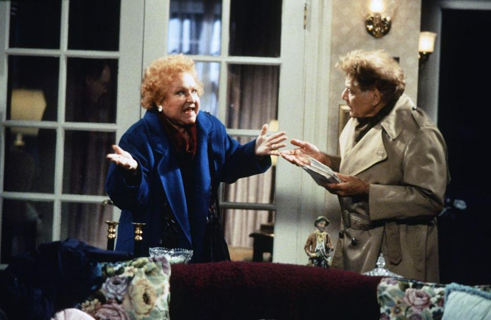 """<p>Comedians Estelle Harris and Jerry Stiller played George Costanza's parents on the show—but Harris reportedly <a href=""""https://screenrant.com/seinfeld-behind-scenes-unknown-facts-contest-episode-george-costanza-larry-david/"""" rel=""""nofollow noopener"""" target=""""_blank"""" data-ylk=""""slk:hadn't seen the show"""" class=""""link rapid-noclick-resp"""">hadn't seen the show</a> before she auditioned. </p>"""