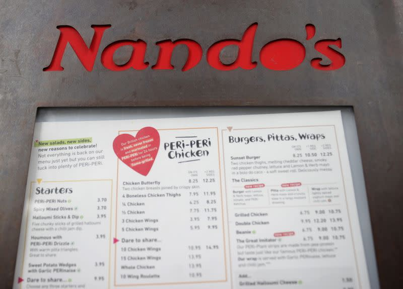 FILE PHOTO: General view of a Nandos restuarant in London