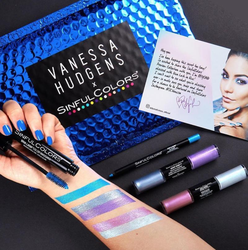b9399c23ff4 Vanessa Hudgens created an eccentric beauty kit with Sinful Colors, so get  ready to slay the holiday season