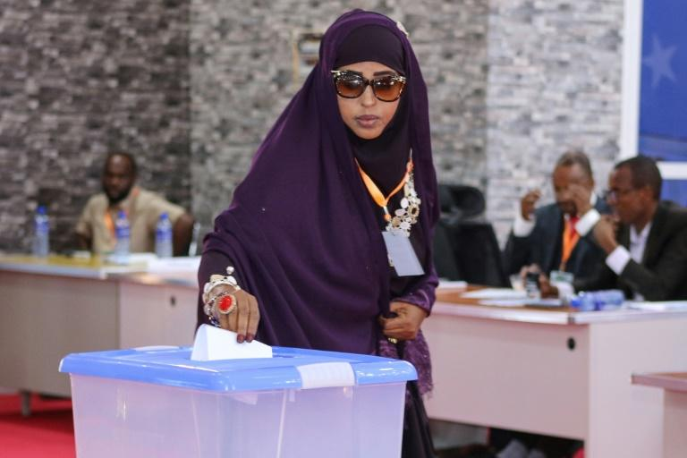 On Thursday, 56 of Jubaland's 74 MPs voted to re-elect Madobe to the semi-autonomous state's presidency (AFP Photo/Abdirazak Hussein FARAH)