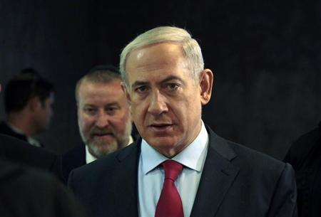 Israel's Prime Minister Netanyahu arrives for the weekly cabinet meeting in Jerusalem