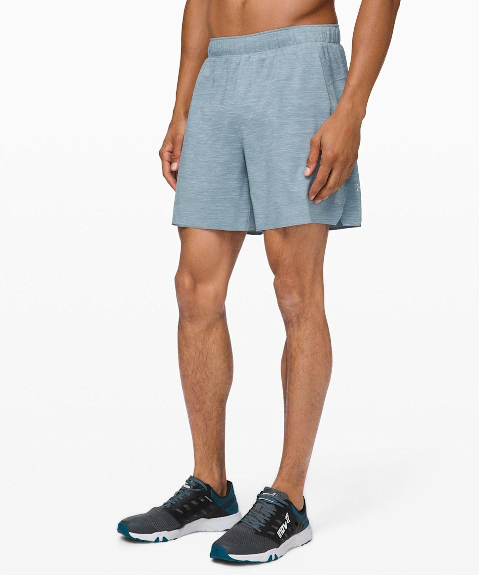 """<p><strong>Lululemon</strong></p><p>lululemon.com</p><p><strong>$68.00</strong></p><p><a href=""""https://go.redirectingat.com?id=74968X1596630&url=https%3A%2F%2Fshop.lululemon.com%2Fp%2Fmen-shorts%2FSurge-Short-Liner-6%2F_%2Fprod9010032&sref=https%3A%2F%2Fwww.runnersworld.com%2Fgear%2Fg36113102%2Frunning-essentials%2F"""" rel=""""nofollow noopener"""" target=""""_blank"""" data-ylk=""""slk:Shop Now"""" class=""""link rapid-noclick-resp"""">Shop Now</a></p><p>These Lululemon shorts are an athlete's dream made from quick-dry and lightweight mesh material with pockets providing secure storage. They even thought through creating flat seams to reduce chafing.</p>"""