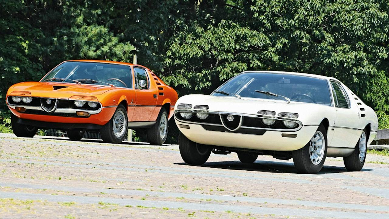 <p>Okay, the Alfa Romeo Montreal doesn't have pop-up headlights, but the design is so cool that it deserves recognition.</p> <p>During normal driving, the Montreal features louvered panels that cover the top half of the headlights and make the coupe look like it has eyelashes. However, when the time comes to turn on the lights, these pieces tip downward to sit underneath the lamps. The result is a machine that appears to be blinking when the headlights come on.</p> <p></p> <p></p>