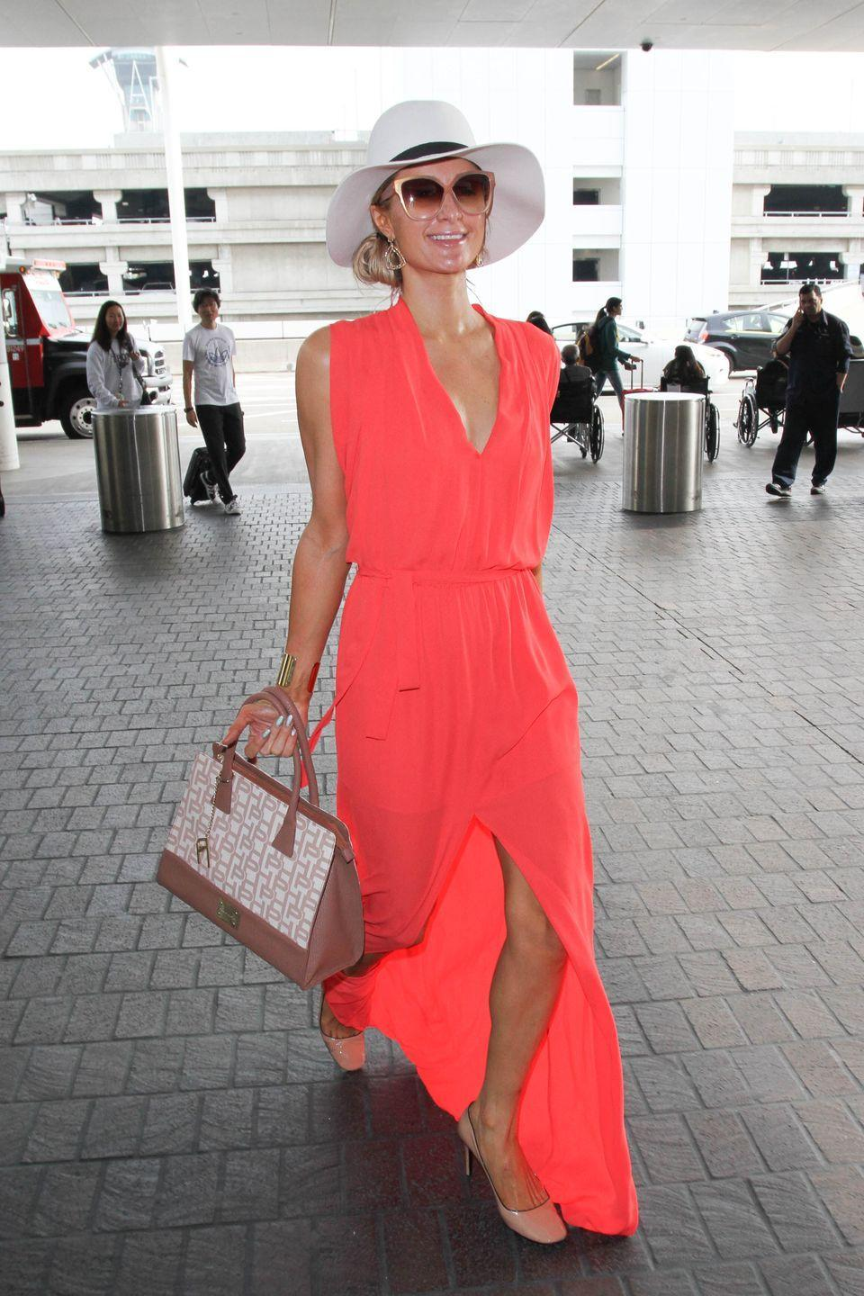 <p><strong>Paris Hilton, 2016: </strong>This time, Paris chose a maxi dress with a slit in the front to give her legs some additional walking room.</p>