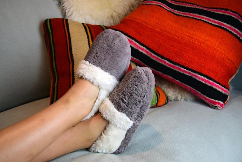 "Buy two pairs if you want, or let them fight over the one. Get it for $40.28 at <a href=""https://www.etsy.com/ca/listing/658149095/snugtoes-womens-heated-slippers-with"" target=""_blank"" rel=""noopener noreferrer"">Etsy</a>.&nbsp;"