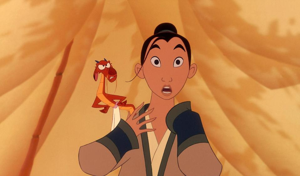 """<p>Mulan is the Disney princess we should all aspire to be. Strong, resourceful, funny, willing to put it all on the line for the people she loves—she should be the president of both China and the United States. Also, she ends up with the hottest Disney guy of them all. A true boss. </p> <p><a href=""""https://www.amazon.com/Mulan-Ming-Na/dp/B008Y6TGIY/"""" rel=""""nofollow noopener"""" target=""""_blank"""" data-ylk=""""slk:Available for rent on Amazon Prime Video"""" class=""""link rapid-noclick-resp""""><em>Available for rent on Amazon Prime Video</em></a></p>"""