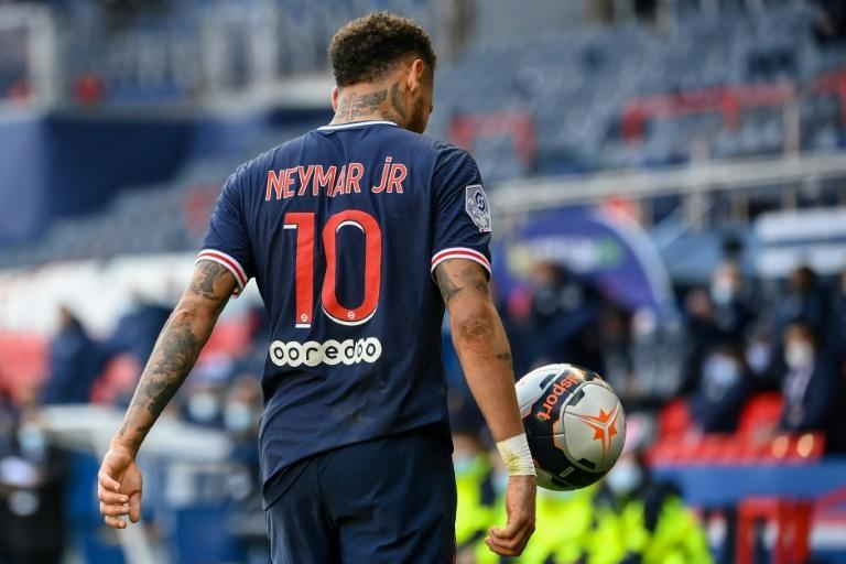 Neymar was sent off at the death as PSG lost at home to title rivals Lille