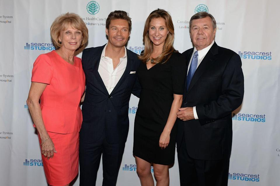 <p>Ryan Seacrest's sister, Meredith Seacrest, may not be in front of the camera, but she still works in the entertainment industry as a producer. With a megawatt smile like her brother's, maybe we'll see her on <em>Live With Kelly and Ryan</em> someday.</p>