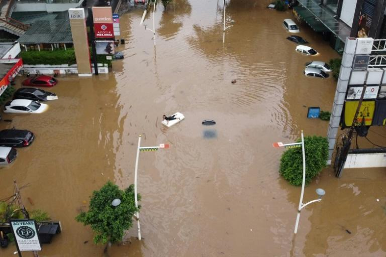 Parts of Jakarta are under four to nine feet (1.2 to 2.7 metres) of water