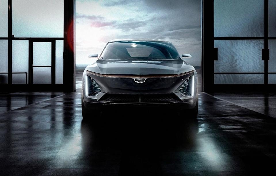 The GM Cadillac Lyriq SUV.