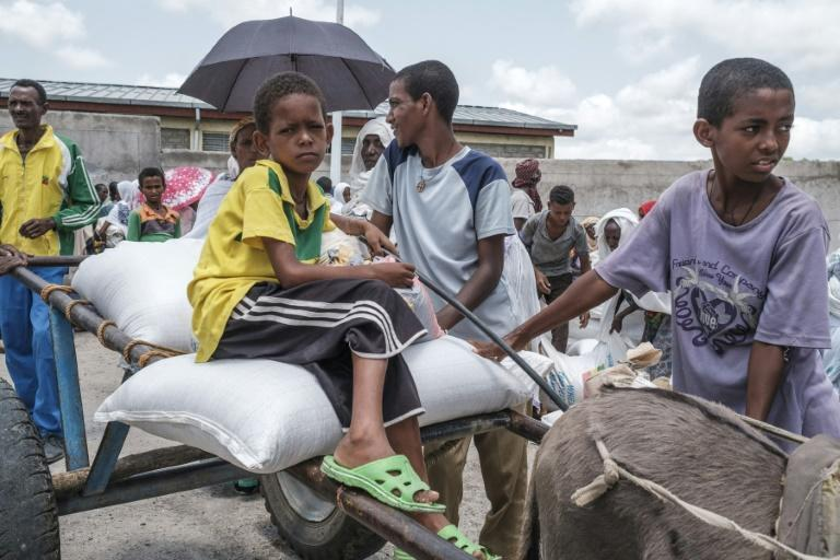 Many people in Tigray are dependent on scarce food aid