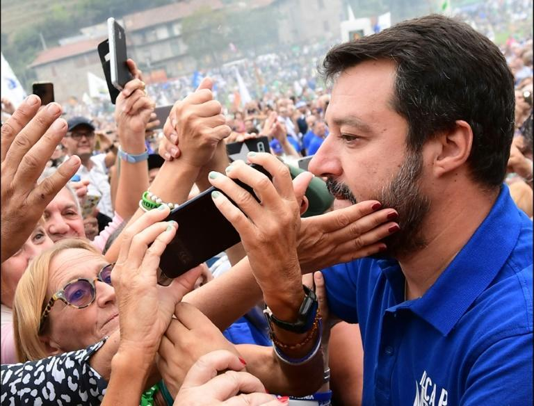 """Salvini was known for his """"Italians first"""" policy"""