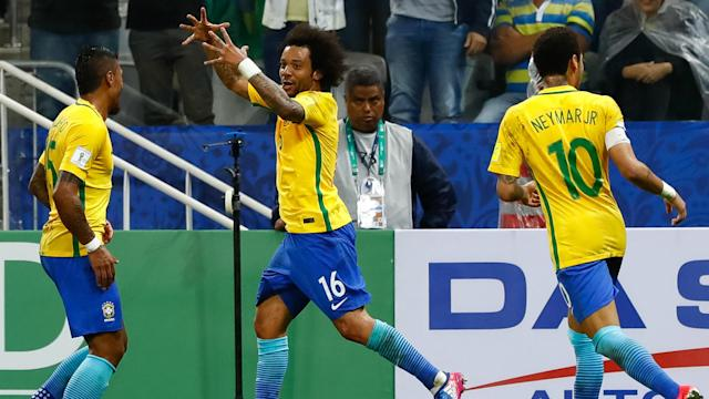 Brazil - amid a nine-game winning streak since last year's Copa America Centenario - benefited from Peru's 2-1 win at home to Uruguay.