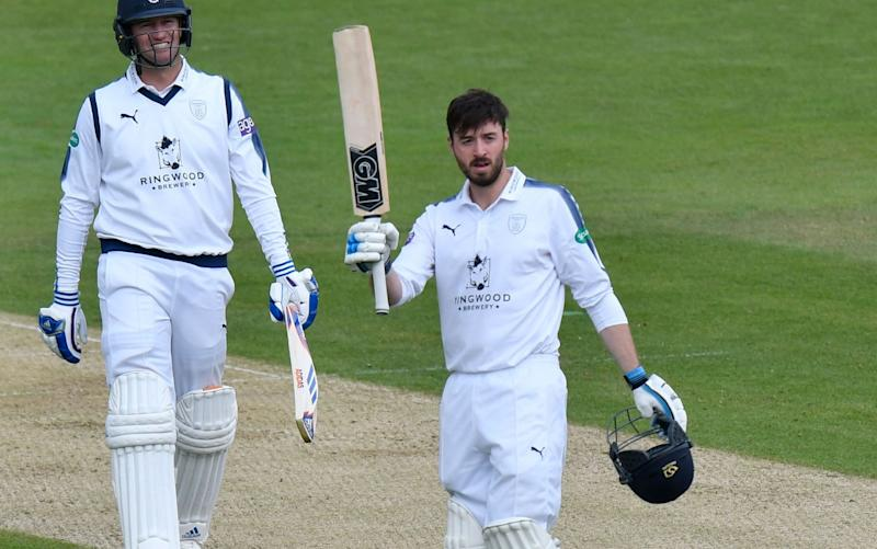 James Vince starred with the bat for Hampshire - Rex Features