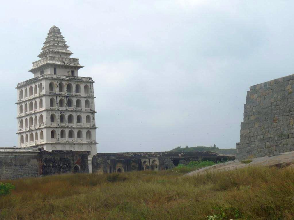 "The Kalyana Mahal, presumably the living quarters of the queens, is one of the most recognizable structures in the fort premises and exhibits Indo-Islamic architectural styles. The Maratha king Shivaji hailed Gingee Fort as the most impregnable fortress in India and the British called it the ""Troy of the East"". It was declared a national monument in 1921 and is currently maintained by the Archaeological Survey of India.<br><br>Read the related blog post, <a target=""_blank"" href=""http://in.lifestyle.yahoo.com/blogs/traveler/gingee-fort-history-smorgasbord-090633638.html"">Gingee Fort - history's smorgasbord</a>"