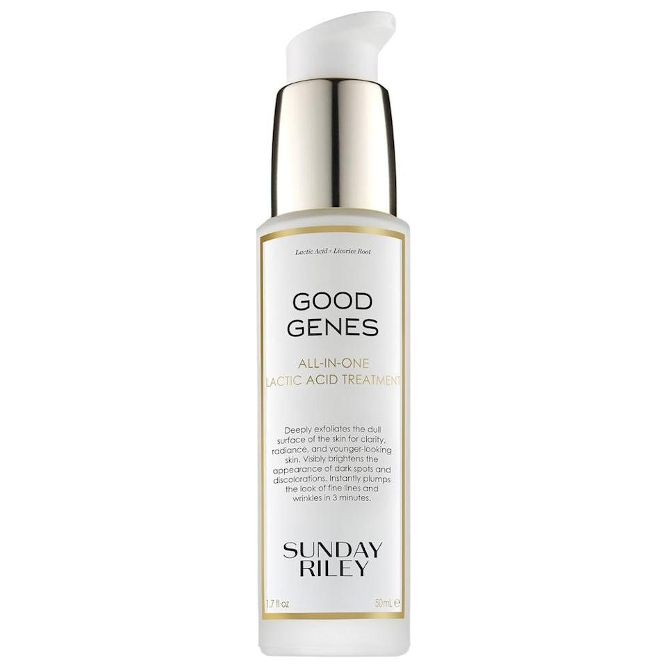 <p>So many customers can't get enough of this <span>Sunday Riley Good Genes All-In-One Lactic Acid Treatment</span> ($122), and now they can get even more!</p>