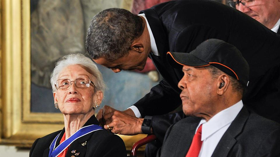 Johnson was awarded the Medal of Freedom, the nation's highest civilian honor, by President Barack Obama. (ABC via Getty Images)