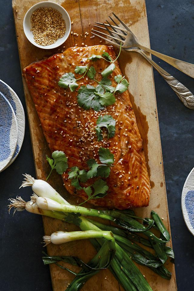 """<p>Take your salmon obsession to the flame.</p><p>Get the recipe: <a href=""""http://www.delish.com/cooking/recipe-ideas/recipes/a53973/asian-bbq-salmon-recipe/"""" rel=""""nofollow noopener"""" target=""""_blank"""" data-ylk=""""slk:Asian BBQ Salmon"""" class=""""link rapid-noclick-resp"""">Asian BBQ Salmon</a></p>"""