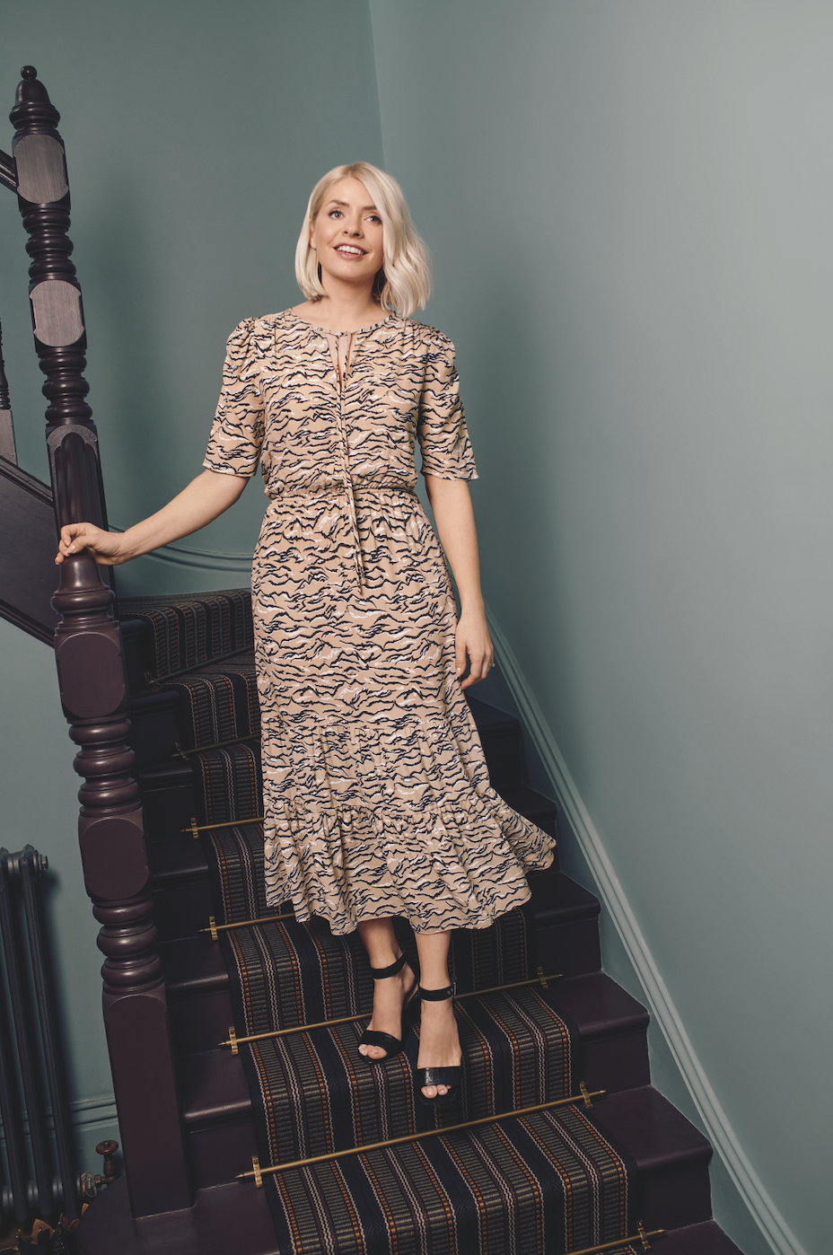 Holly's latest affordable M&S dress is sure to be a hit. (Marks & Spencer)