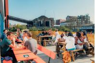 """<p><strong>Happy hour deal:</strong></p><p>Found canalside in Hackney Wick, the new courtyard venue (from the same team as Peckham Levels and Pop Brixton) offers a range of happy hour deals through the week. Every Wednesday between 5 and 9pm it's two for one Aperol spritz's. On Thursdays, it's half price cocktails between 5 and 9pm and on Sundays, half price house spirits from 12 to 5pm. </p><p>Find out more <a href=""""https://hackneybridge.org/"""" rel=""""nofollow noopener"""" target=""""_blank"""" data-ylk=""""slk:here"""" class=""""link rapid-noclick-resp"""">here</a>.</p>"""