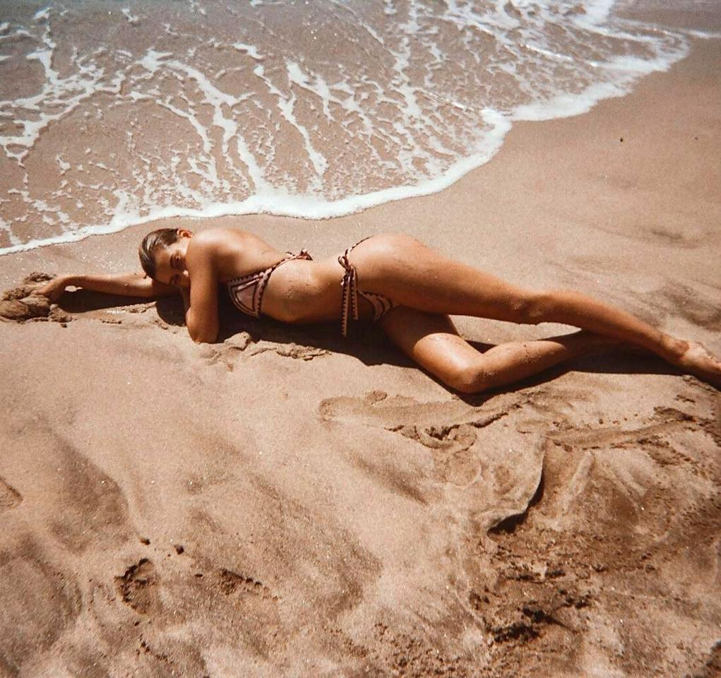 <p>When your tan matches your bikini <em>and</em> the sand.</p>