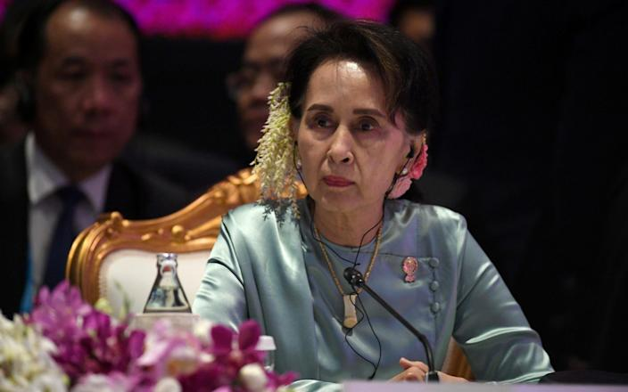 State Counsellor of Myanmar Aung San Suu Kyi attends the 22nd ASEAN Plus Three Summit in Bangkok, Thailand, November 4, 2019. - Reuters