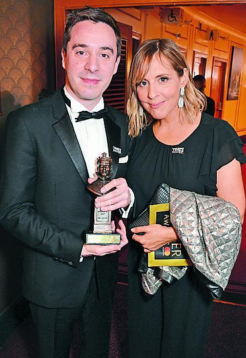 With Mel Giedroyc at the 2018 Olivier Awards (Dave Benett/Getty Images)