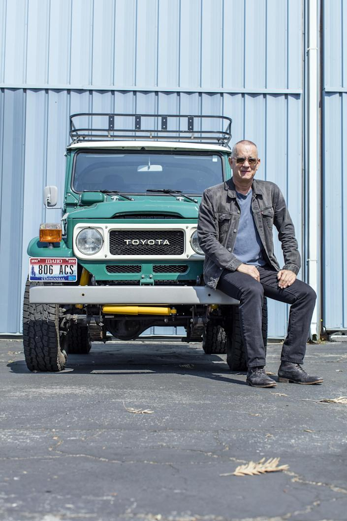 Also on auction is Hanks's 1980 Toyota FJ40 Land Cruiser, among other vehicles.