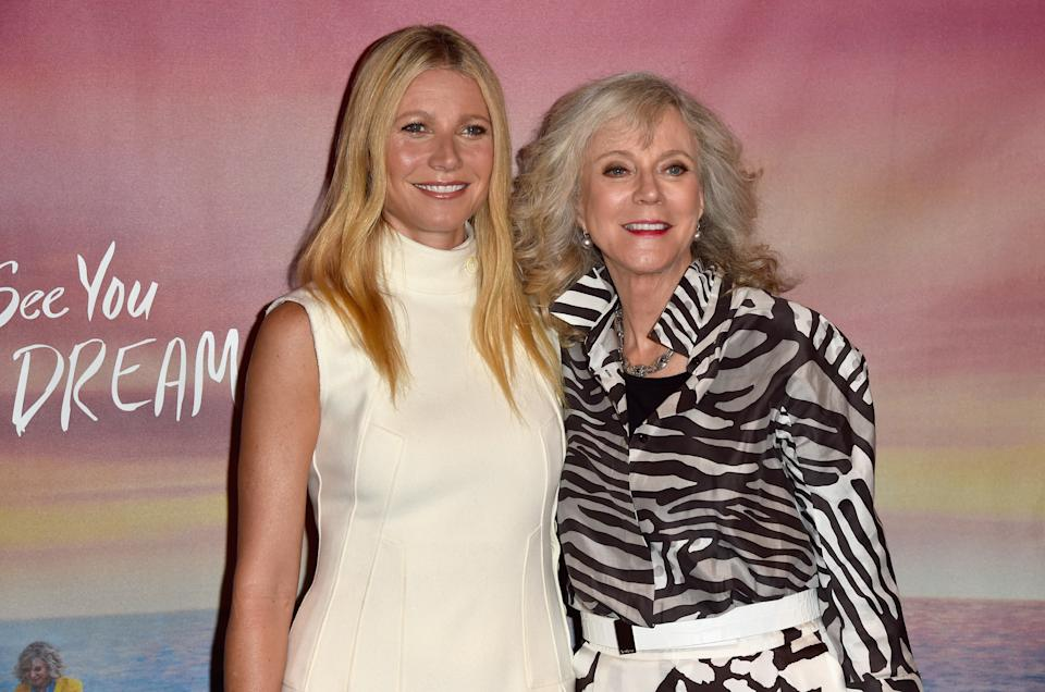 Gwyneth Paltrow with her mom, actress Blythe Danner. (Photo by Alberto E. Rodriguez/Getty Images)