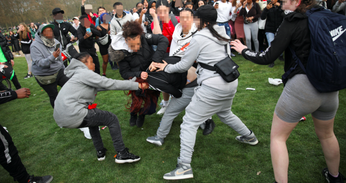 A 15-year-old girl was stabbed in the leg during the fight at Hyde Park. (Reuters)