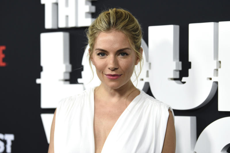 "Actress Sienna Miller attends the premiere of the ShowTime limited series ""The Loudest Voice,"" at the Paris Theatre, Monday, June 24, 2019, in New York. (Photo by Evan Agostini/Invision/AP)"
