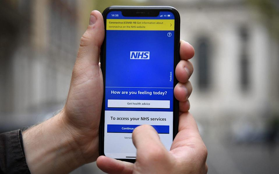 The NHS app will be used by holidaymakers in England to prove their coronavirus status to destination countries - Kirsty O'Connor/PA Wire