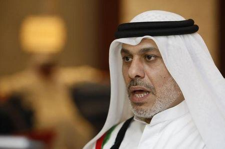 FILE PHOTO - Nasser bin Ghaith speaks to Reuters at his home in Dubai