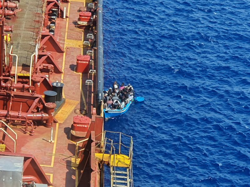 Three migrants rescued near Malta after jumping off stranded tanker
