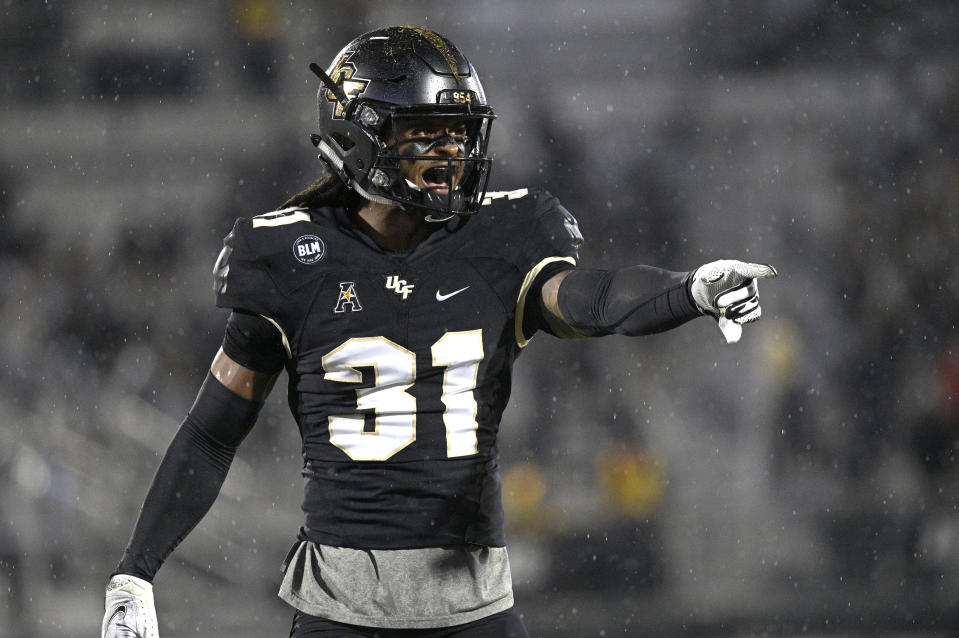 Central Florida defensive back Aaron Robinson could play inside or outside in the NFL. (AP Photo/Phelan M. Ebenhack)