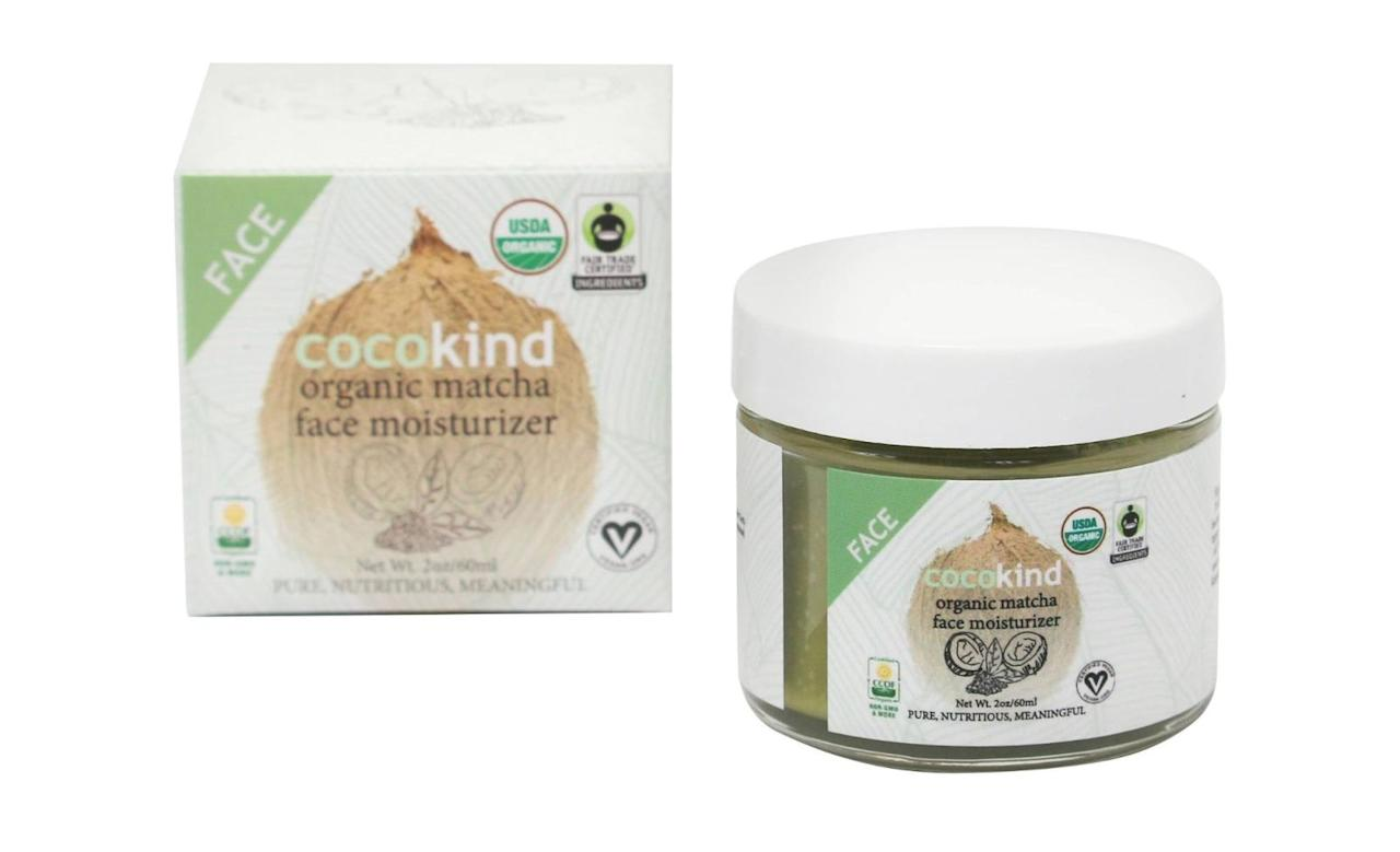 """<p><strong>The Product:</strong> Organic Matcha Face Moisturizer by Cocokind, $17, <a rel=""""nofollow"""" href=""""http://www.target.com/p/cocokind-organic-matcha-face-moisturizer-2-oz/-/A-51148473""""><u>target.com</u></a>.</p><p><strong>The Main Ingredients: </strong>Coconut oil, matcha tea powder, and organic pomegranate oil.<span></span></p>"""