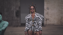 """<p>On July 31 Queen Bey dropped <em>Black Is King</em> on Disney+, a celebration of Black culture and African traditions. Her longtime stylist Zerina Akers assembled an <a href=""""https://people.com/style/beyonce-black-is-king-style-moments/"""" rel=""""nofollow noopener"""" target=""""_blank"""" data-ylk=""""slk:array of jaw-dropping custom pieces"""" class=""""link rapid-noclick-resp"""">array of jaw-dropping custom pieces</a>, many by independent Black designers, including this jacket from Loza Maléombho.</p>"""