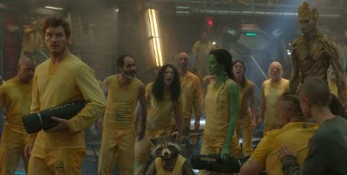 Guardians of the Galaxy prison scene
