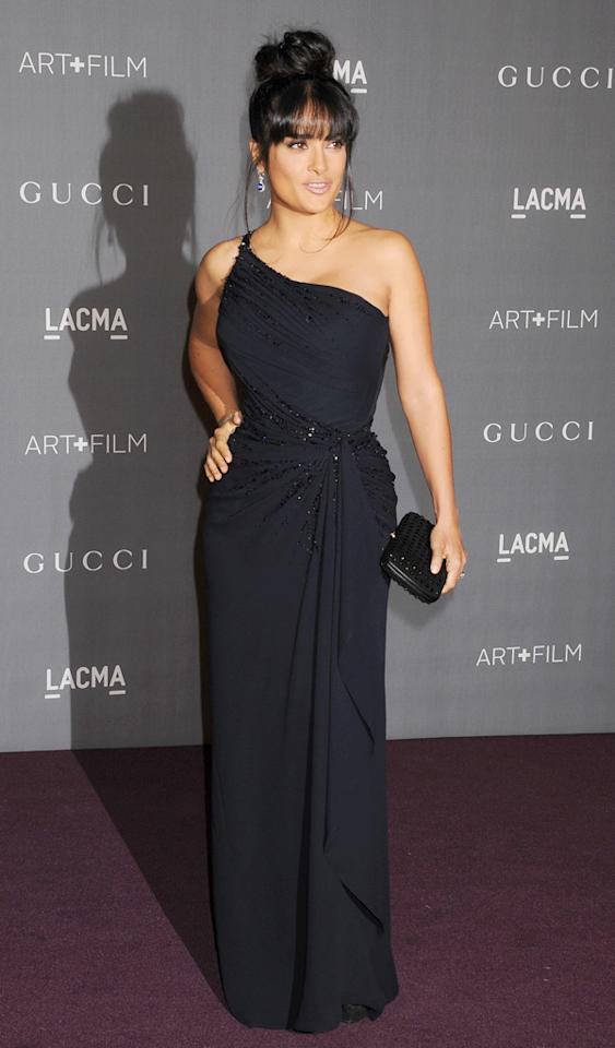 LOS ANGELES, CA - OCTOBER 27: Actress Salma Hayek arrives at LACMA Art   Film Gala at LACMA on October 27, 2012 in Los Angeles, California. (Photo by Jeffrey Mayer/WireImage)