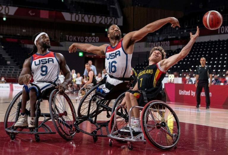 On the wheelchair basketball pitch, the United States men's team beat Germany 58-52
