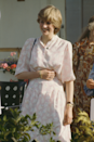 <p>Days before her wedding to Charles, Diana attended the Cartier International polo match in Windsor wearing this printed sundress with a slightly cinched waist.</p>