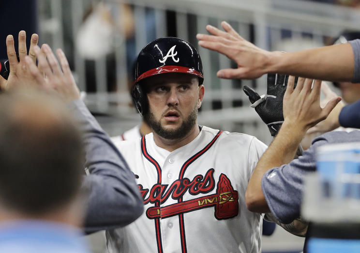 New free agent Matt Adams hit 19 home runs for the Braves in 2017. (AP)
