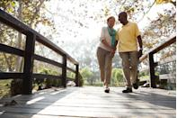 <p>Lace up your walking shoes and hit a nearby nature preserve, park, or hiking area to take in the scenery. There's just something about getting away from it all that invites deep conversation, so even couples who have a handful of years under their belt can get something out of it.</p>