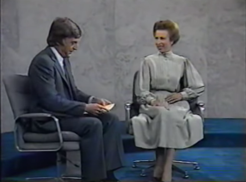 A photo of Princess Anne in a newly-resurfaced interview with Michael 'Parky' Parkinson in the early '80s.