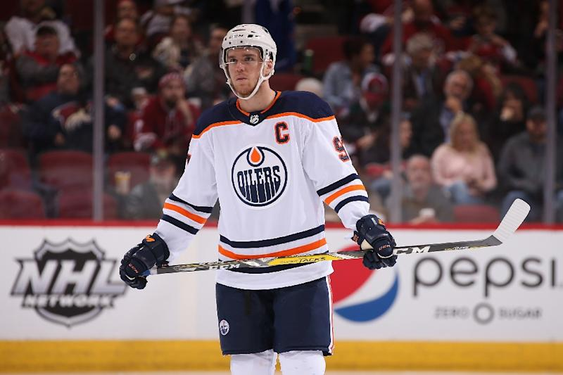 Connor McDavid and the Edmonton Oilers, pictured in January 2018, will play their season opener October 6 at Gothenburg, Sweden