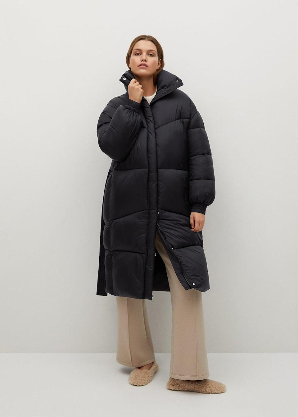 <p>This <span>Mango Oversized Padded Coat</span> ($90, originally $230) will feel like you never left your house.</p>