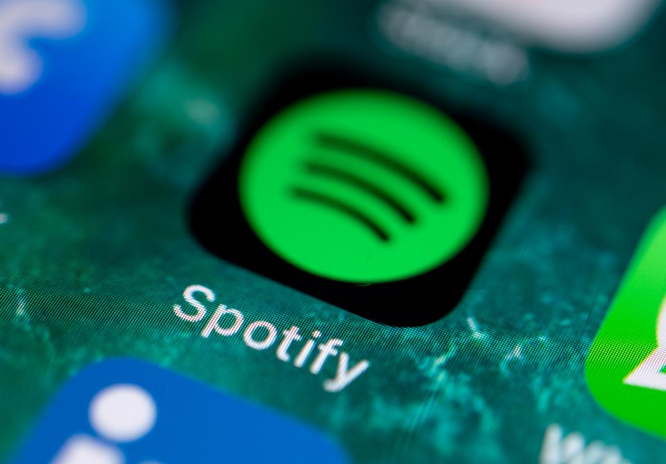 Spotify logo. Photo: Press Association