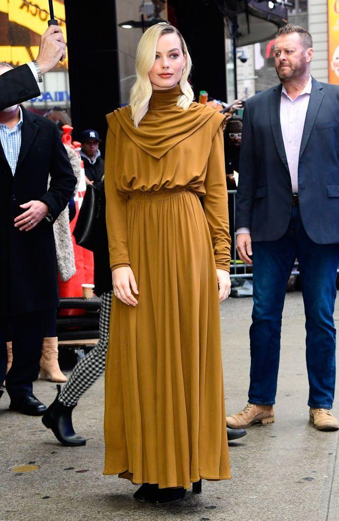 <p>On February 4 the Once Upon A Tim In Hollywood actor kicked off her day in New York in a Proenza Schouler dress for her appearance on Good Morning America.</p>