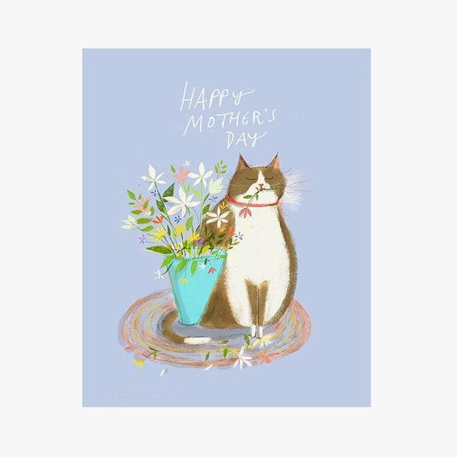 "$5, etsy.com. <a href=""https://www.etsy.com/listing/797631759/happy-mothers-day-card-cat-card-floral"" rel=""nofollow noopener"" target=""_blank"" data-ylk=""slk:Get it now!"" class=""link rapid-noclick-resp"">Get it now!</a>"